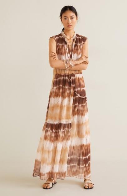 Maxi vestido tie-dye