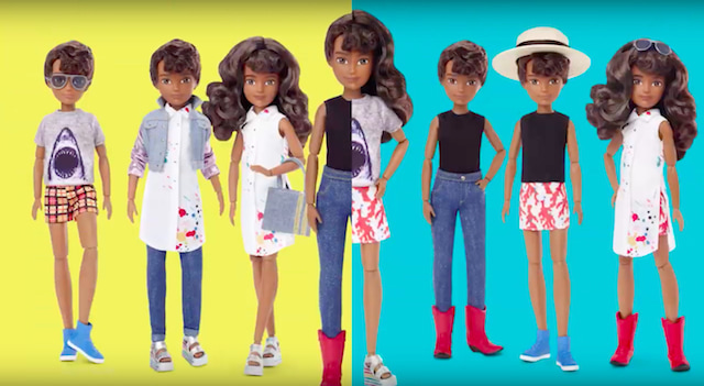 gender-neutral mix of doll variations for Creatable World.