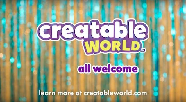 """all welcome,"" the slogan for the gender-neutral collection, Creatable World."
