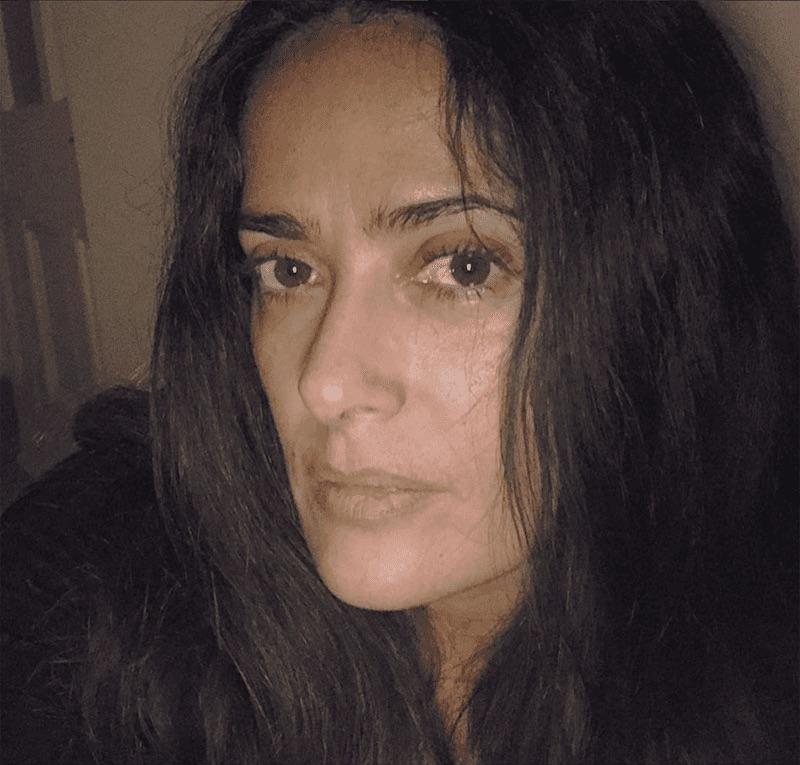 Salma Hayek sin maquillaje