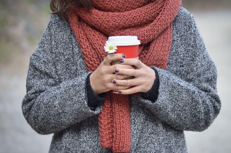Bufanda y café
